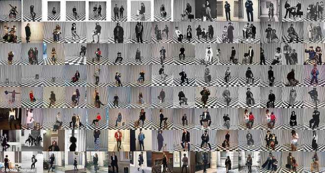 Mr Stefaner added: 'To me, these very tight clusters of almost identical images became the most interesting aspect. 'How often can people take the same photos? At the same time, each of them is slightly different indeed, and the continuous re-enactment of rituals and re-discovery of photo ideas has a comforting charm to it as well'