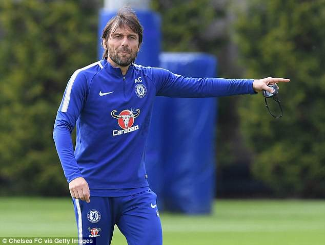 But Conte would not discuss the striker potentially leaving Stamford Bridge on Tuesday