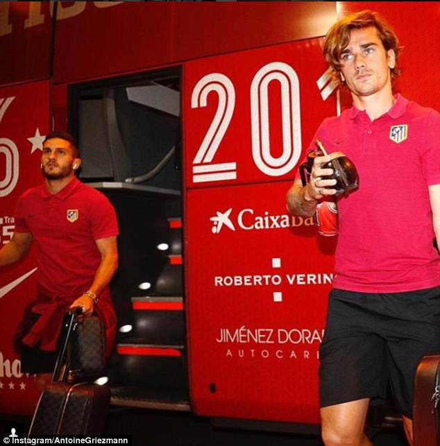 Griezmann drinks South American drink 'Mate' which Lionel Messi and Luis Suarez also drink