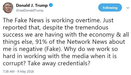 'Take away credentials?' Trump asked, suggesting a heavy-handed approach to press freedom