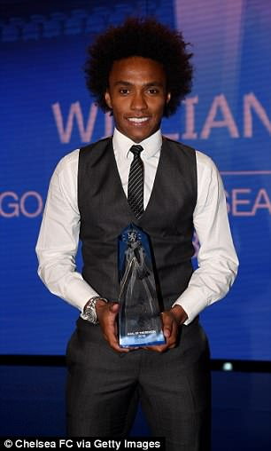 Willian wins Chelsea's Goal of the Season for his effort against Brighton in January
