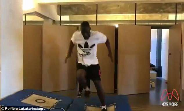 Lukaku uploaded a video on Instagram of himself taking part in agility exercises