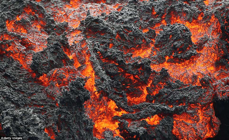 The U.S. Geological Survey said a recent lowering of the lava lake at the volcano's Halemaumau crater has raised the potential for explosive eruptions