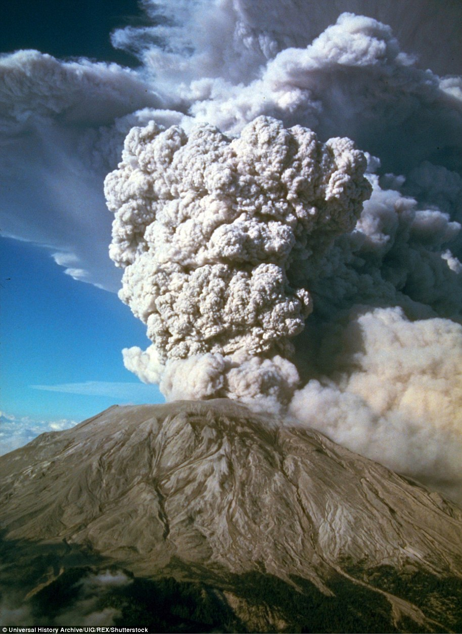 WhenMount St. Helens erupted in 1980 (pictured), killed dozens of people and sent volcanic ash across the country, and Mount Rainier, which towers above the Seattle metro area.