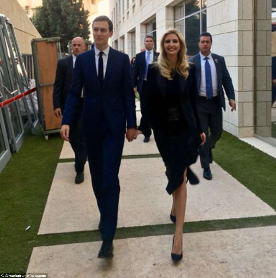 Ivanka and Jared were seen arriving to a reception for the US delegation. She posted this photo on Instagram