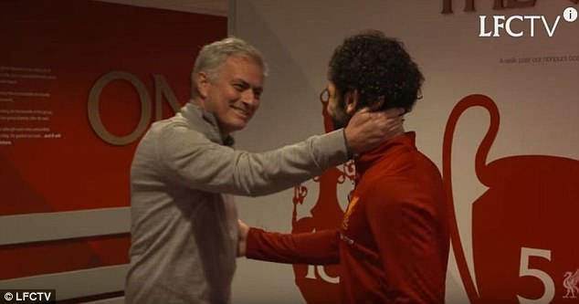 Jose Mourinho had warm words for Mohamed Salah when they met this season
