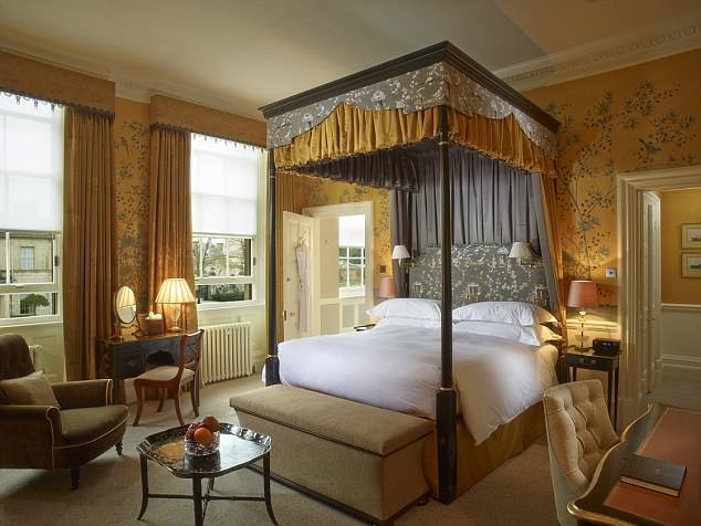 Cliveden House hotel in Taplow, Berkshire, can cost £445-a-night for a Club Room like this one but suites cost £1,500