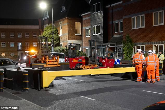 Specialist teams spent the night constructing anti-vehicle barriers in Windsor city centre