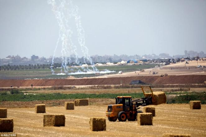 Flashpoint: Israeli forces have fired tear gas after reports of protests on the Gaza side of the border this morning