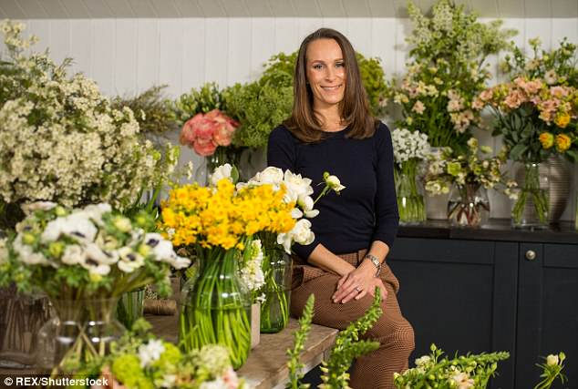 By royal appointment: It was revealed in March that trendy  Philippa Craddock (pictured) had been hand-picked by the couple to deck out Windsor in stunning blooms for their nuptials