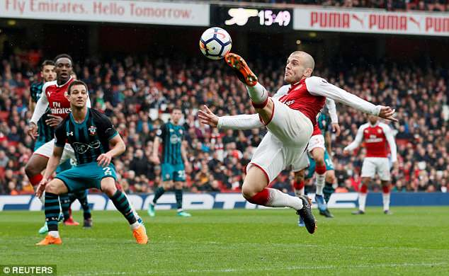Wilshere has been playing regularly for Arsenal but it has not been enough to warrant a place