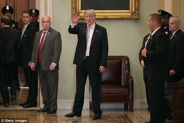 Senate Republicans say Trump spoke through most of their meeting and just two or three of them asked questions