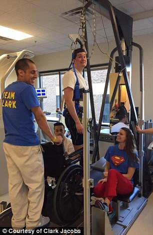 As Clark regained strength in physical therapy, his stamina and awareness of his surroundings improved too