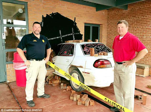 The elaborate prank earned the students praise from their school and even the local Cumberland Police Department