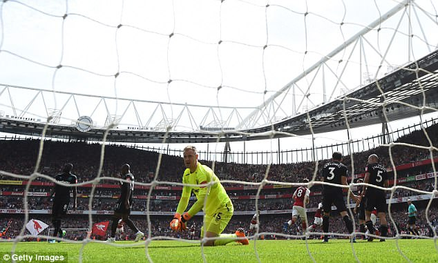 Hart spent the season on loan at West Ham but has not played since April's 4-1 loss at Arsenal