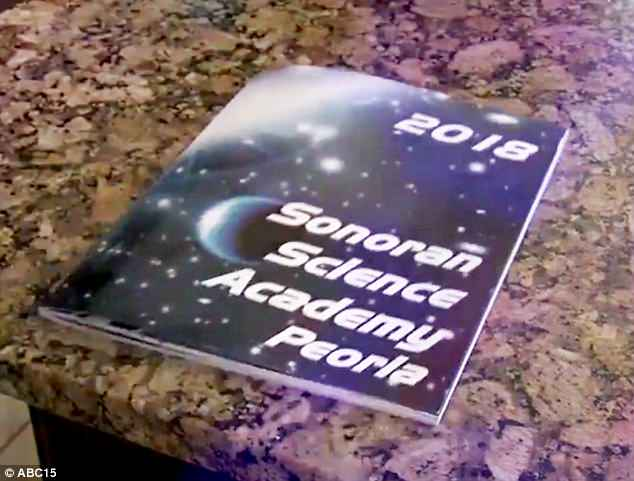 Bree Brown, whose 11-year-old daughter attends the Sonoran Science Academy in Peoria, Arizona, said her daughter showed her the yearbook passage