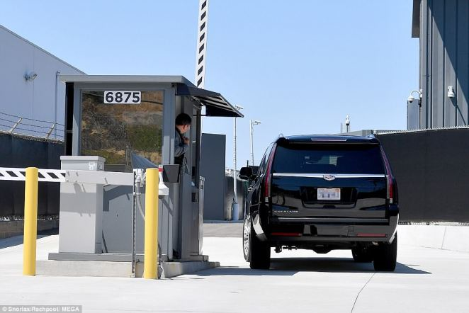 Ragland, 61, was seen being picked up by an SUV at her California home before heading to Los Angeles International Airport on Tuesday, where she was dropped off at a private entrance (pictured)