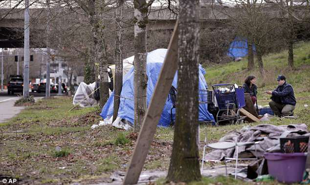 In January, there were 11,643 people homeless throughout Seattle (stock image)