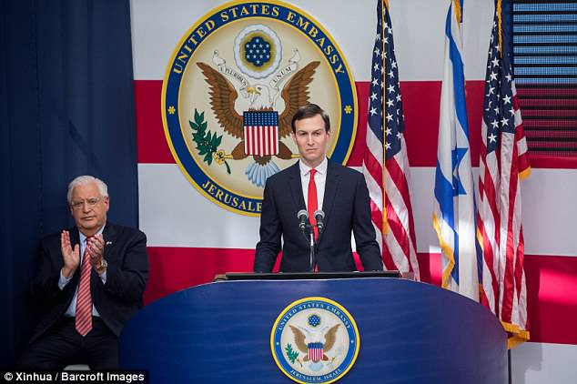 Kushner criticized Palestinians who were protesting the official opening of the new US embassy in Jerusalem on Monday and called them 'part of the problem' – but his remarks were left out of a White House transcript circulated to television reporters; the National Security Council corrected its error hours later, and had a restored version available on Tuesday