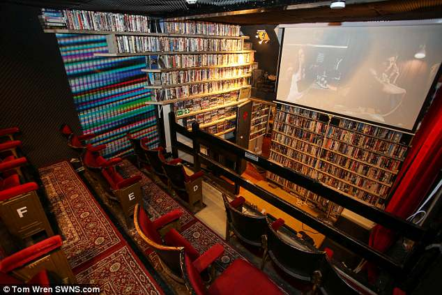 Bristol video shop 20th Century Flicks becomes UK's smallest cinema | Daily  Mail Online