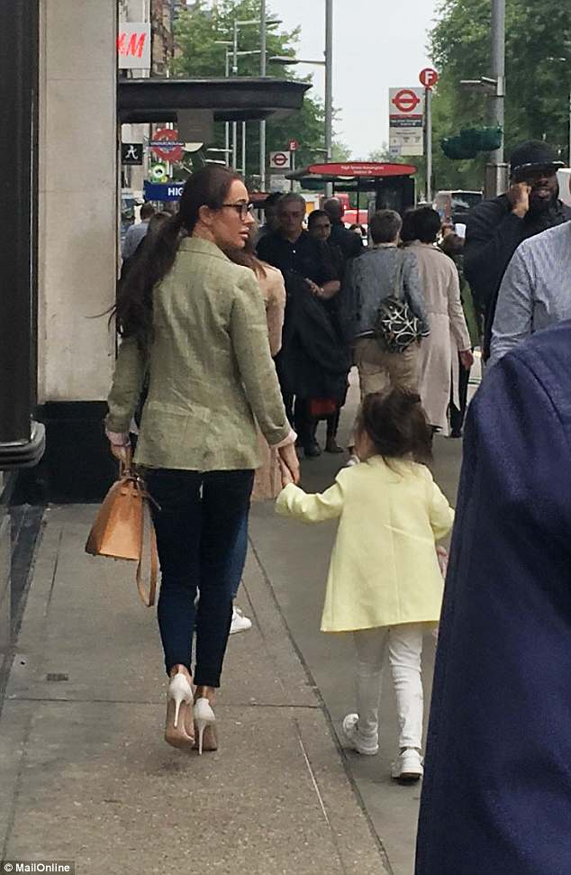 Meghan's friend and stylist Jessica Mulroney was spotted in Kensington ahead of the wedding, along with four-year-old daughter Ivy, who was named today as a bridesmaid