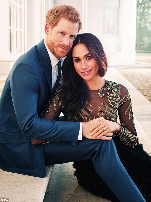 Exchanging nuptials: Prince Harry and Meghan Markle are set to tie the knot at Windsor Castle in Berkshire on Saturday. Pictured in December 2017