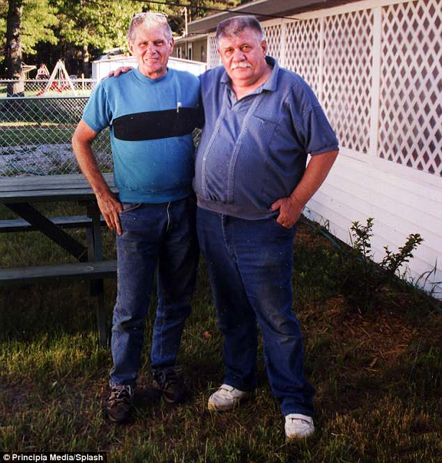 Reca, left, kept his life experiences secret until 2008, when he told his story to his close friend, Carl Laurin (left)