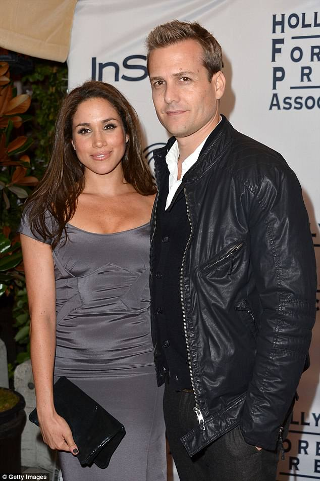 Longtime co-stars: Gabriel and Meghan had starred on Suits together from 2011, until she departed her role as Rachel Zane last year. Pictured together in 2012