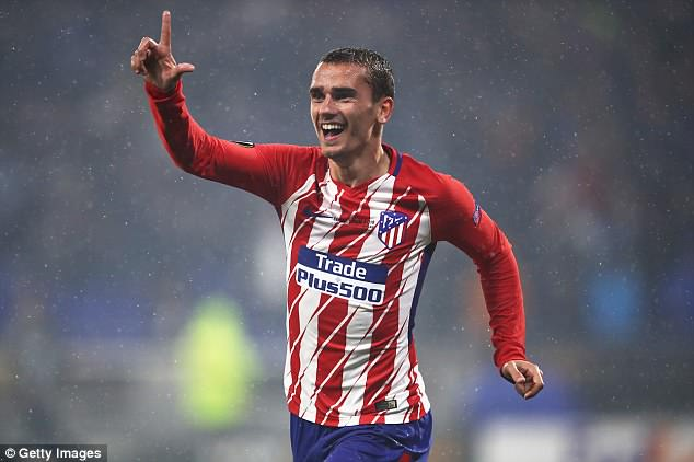 Antoine Griezmann scored twice as Atletico Madrid beat Marseille in the Europa League final