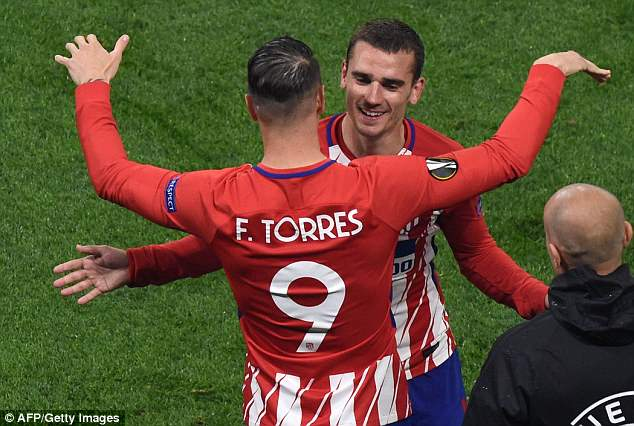 Torres, who is out of contract this summer, was given a late cameo in place of Griezmann