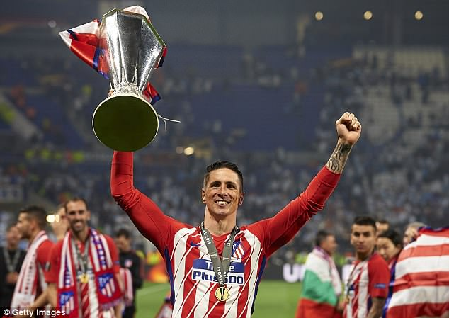 Fernando Torres ended his Atletico Madrid career by lifting the UEFA Europa League in Lyon