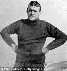 Sir Ernest Shackleton, pictured during his Antarctic expedition