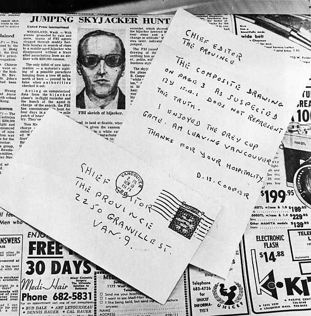 Coding in this note, which was sent on November 30, 1971, said: 'IF CATCH I AM CIA… RWR'. Investigators believe the 'RWR' in the coding is Rackstraw's initials