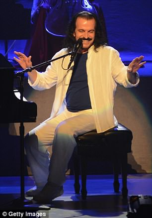 Yanni is pictured performing in Virginia on May 9