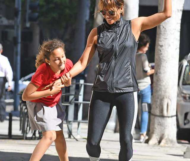 Actress Halle Berry Was Spotted On Tuesday Teasing Her Daughter Nahla With