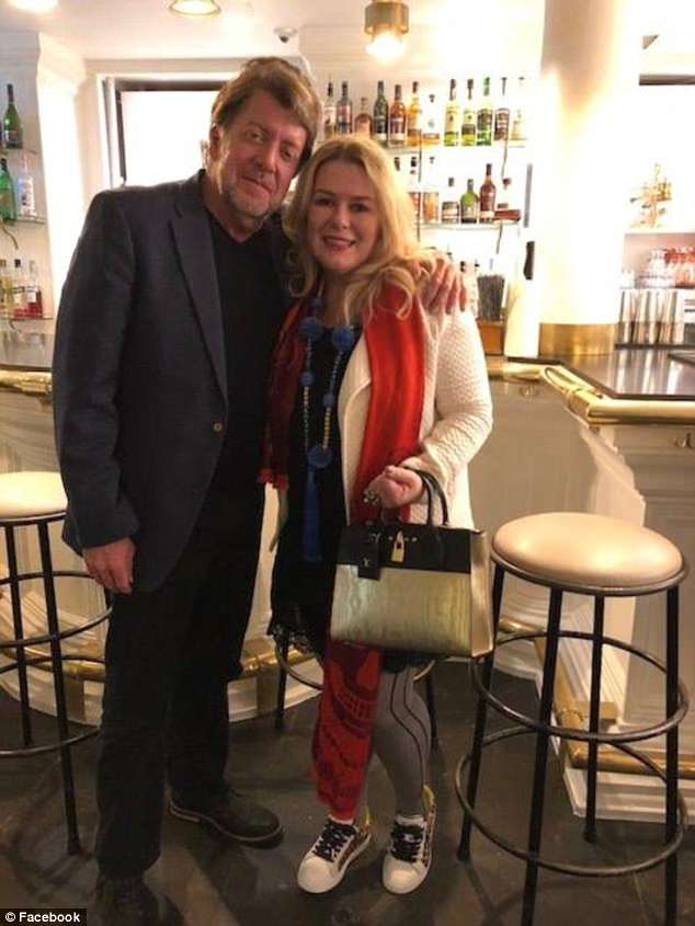 Stephen Beal, 59, an ex-boyfriend of slain day spa ownerIldiko Krajnyak (pictured together on vacation), has been arrested on an unrelated explosives charge