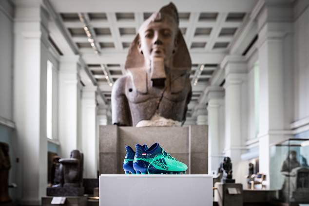 Adidas donated of a pair of Mo Salah's boots to the Egyptian collection in the British Museum