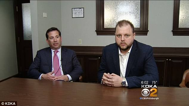 Innocent: Rachael DelTondo's ex-fiance Frank Catroppa - nicknamed The Wolf of Aliquippa - told KDKA-TC it was a 'sad, sad case' while his attorney Stephen Colafella added: 'We wanted to be very, very clear publicly that Frank Catroppa has absolutely nothing whatsoever to do with what happened.'