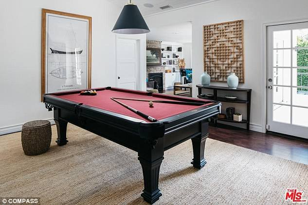 A games room is big enough for a billiards table