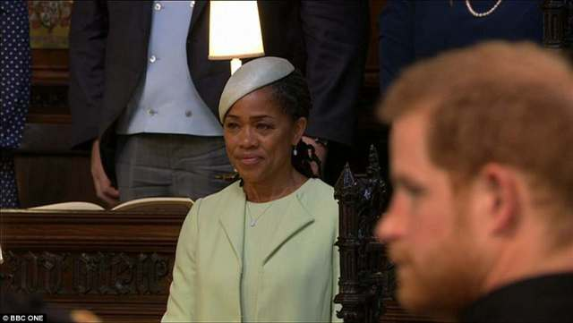 Prince Harry glanced at his mother-in-law to give her a reassuring look as he awaited his bride's arrival