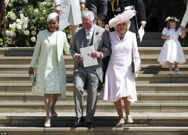 Mother of the bride Doria Ragland has officially been accepted into the royal fold following her daughter's wedding to Prince Harry on Saturday