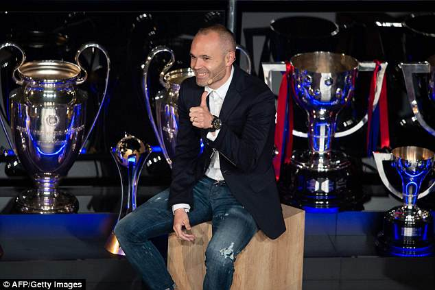 Iniesta has won 22 major trophies in his career, leaving almost every other player in his wake