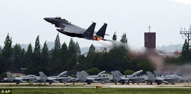 The 'Max Thunder' aerial maneuvers will see hundreds of US and South Korean jets training in Korean airspace