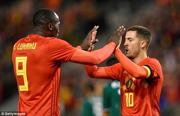 Romelu Lukaku and Eden Hazard have been named in Belgium's provisional World Cup squad