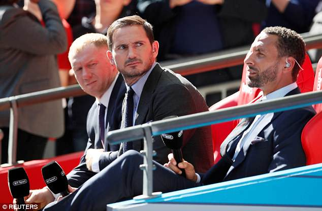 Frank Lampard (centre) described 24-year-old Kane 'like a talisman' for England