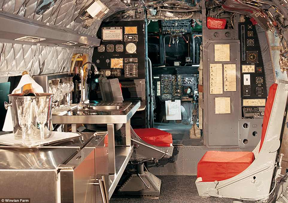 Guests are invited to 'take cocktails in the cockpit' or 'watch a film in the fuselage'. Rates start from $699 (£519) per night
