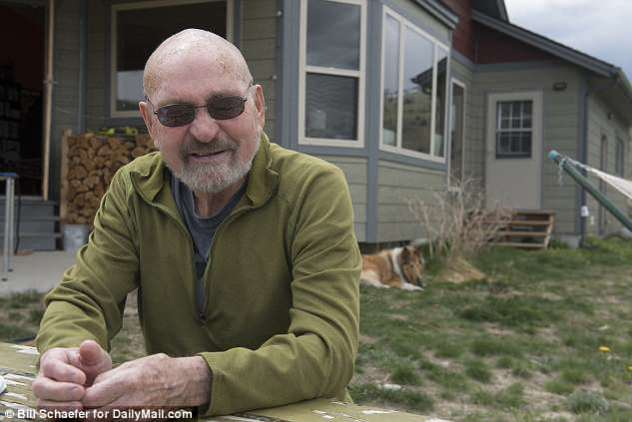 Kidder's long-time friend Doug Peacock, 76 (pictured outside his home in Emigrant, Montana) said her death did not come as a shock to him since she had been in poor health for years