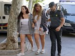 McCahill faced court in Palma for setting fire to a hotel in Magaluf wearing the same clothes as when he arrested, where he and the others were released on bail