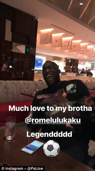 Lukaku laughs at Fat Joe during their evening