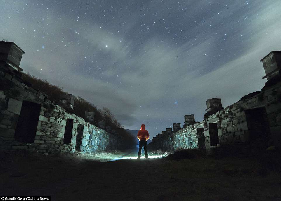The 29-year-old has only been taking pictures for about 24 months. He is pictured in Dinorwic, a village in North Wales